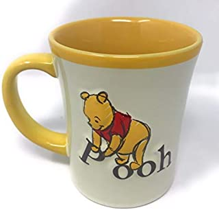 迪士尼 小熊维尼 3D 黄色和奶油色陶瓷咖啡茶杯