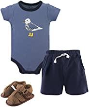 Hudson Baby 宝宝–男孩3件连体衣,短款,鞋集