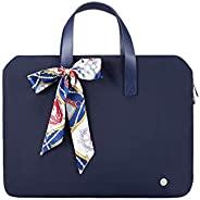 Kamlui 13.3 英寸笔记本电脑包 - 女士防水笔记本电脑袖肩邮差电脑手提箱(14 英寸,蓝色)..