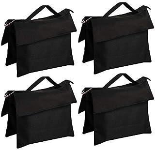 ABCCANOPY 沙包鞍包设计 4 个重量袋适用于照片视频工作室支架(黑色-4 件)