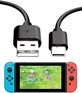 Switch 10FT 超长 USB C 电池电源线适用于家用和汽车,兼容 Nintendo Switch & Lite (仅数据线,不包含交流适配器或车载充电器)