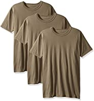 Soffe 男式 3 件裝 - 美國滌綸/棉* T 恤 棕褐色 X-Large