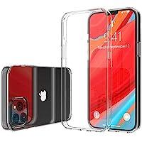 Luvvitt Clear View 手機殼適用于 iPhone 12 Pro Max 防震防摔超薄軟混合 TPU 凝膠保險杠和硬質 PC 防刮背面適用于 Apple iPhone 12 Pro Max 2020 6.7 英寸 - 透明