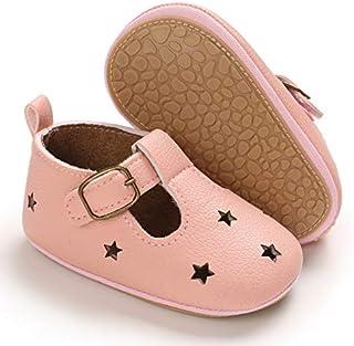 BENHERO 婴幼儿女婴玛丽珍拖鞋软底 PU 皮防滑公主*步鞋