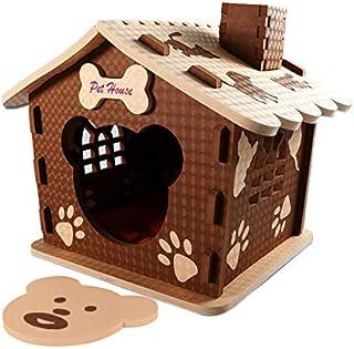 VBM 狗屋 – 适合中小型犬的狗床 – 儿童和宠物的*宠物屋 – 室内和室外 – 可爱的爪子设计 – 舒适轻便 – 坚固可靠