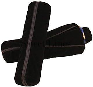 黑色手表手镯首饰卷 w/ 拉链袋