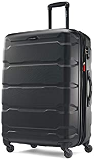 Samsonite 新秀丽 Omni Pc Hardside 可扩展行李箱,带万向轮,黑色,Checked-Large 28-Inch