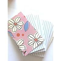带涤纶封面环上的订书钉索引卡 7.62 厘米 x 12.70 厘米(淡紫色  白色花朵设计)