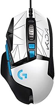 Logitech 罗技 G502 HERO K/DA 高性能游戏鼠标 带电缆 HERO 25K 传感器 16.8 米 颜色 LIGHTSYNC RGB 11 个可编程按钮,官方英雄联盟游戏配件 - 白色