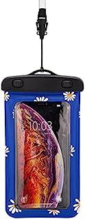 防水浮动雏菊印花手机袋(蓝色)