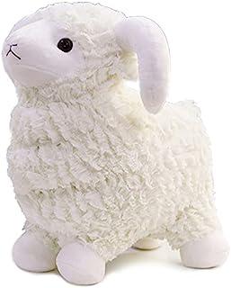 绵羊毛绒玩具,16 英寸(约 40.6 厘米)羔绒填充抱枕娃娃,柔软蓬松的动物朋友抱靠垫 - 适合每个年龄和场合