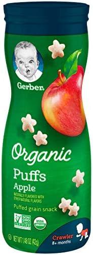 Gerber 嘉宝 泡芙小吃,苹果,天然风味,其他天然味道,1.48盎司(42g),6瓶装