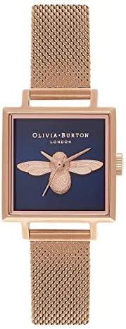 Olivia Burton 女士指针式石英手表,不锈钢表带