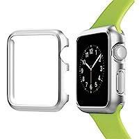 Josi Minea iWatch 5 & 4 鋁制保護殼防撞保護套 - 防震防刮保護膜 適用于 Apple Watch 系列 5 和 4 40mm 銀色