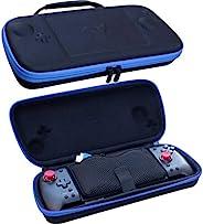 ButterFox Grip 手提箱适用于 Hori Nintendo Switch Split Pad Pro 控制器和 ButterFox 可控手柄 - 蓝色/黑色