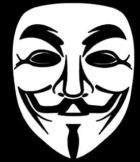 Promenade Graphics 匿名面具乙烯基贴纸   汽车   墙壁   笔记本电脑   白色   5.8 英寸