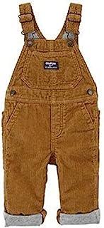 OshKosh B'gosh 男婴灯芯绒工装裤,带可调节肩带,太妃糖灯芯绒,3 个月