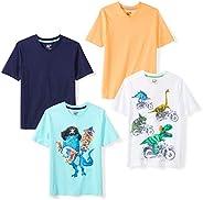 spotted Zebra 男孩4件装 V 领 t 恤