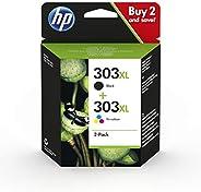 HP Z4B62EE 303 照片超值装,黑色和三色,2 个装 Dual Pack (High Yield) Black and Tri-Colour