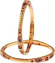 Efulgenz 印度宝莱坞古董传统 14K 镀金昆达水钻婚礼新娘手镯套装珠宝