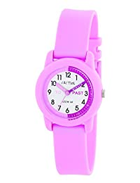 Cactus Children's Quartz Watch with White Dial Analogue Display and Pink Plastic Strap CAC-69-M05
