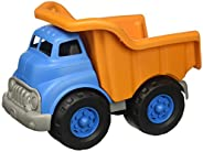 Green Toys 自卸卡車玩具,橙色/藍色,10 x 7.5 x 6.75英寸(25.4 x 19.05 x 17.15厘米)