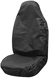 Simply ABSBP01 黑色*气囊兼容汽车前排座椅保护器,通用适合 138 厘米 x 61 厘米,重型防水尼龙材料,易于擦拭清洁