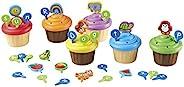 Learning Resources ABC纸杯蛋糕派对饰品,家庭学校,早期字母学习,纸杯蛋糕字母排序,词汇玩具,3岁以上
