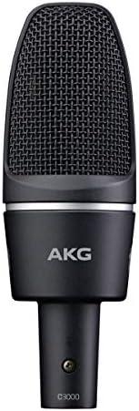 AKG C3000 高性能电容麦克风 带有大振膜