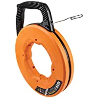 Klein Tools 56340 鱼胶带,不锈钢线拉杆,带双环尖,优化外壳和手柄,0.32 cm x 3.65 m
