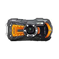RICOH WG-70 防水摄像头高分辨率图像带 16 MP 防水至 14 米,防震至下降至 1.6 米,水下模式环带 6 个 LED 用于宏拍摄WG-70  黑色