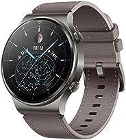 HUAWEI Watch GT 2 Pro 经典智能手表(35 毫米 AMOLED 显示屏,SpO2 监测,心率监测器,音乐播放和蓝牙通话,5 ATM,GPS)星云灰色