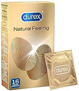 Durex 杜蕾斯 Natural Feeling避孕套,无乳胶避孕套,带来亲肤之感,16 件装(1 x 16件)