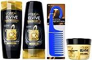 L'Oreal Paris Elvive *修护套装包括洗发水、护发素、除损膏和淋浴梳(
