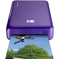 柯达 迷你 2 高清无线便携式移动即时照片打印机兼容 iOS 和 Android 设备 照片打印机 Basic 紫色