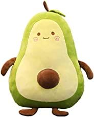 Gianthairball 牛油果毛绒,食物枕可爱搞笑水果抱枕填充玩具 17.7 英寸