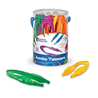 Learning Resources Jumbo 镊子,学习排序和计数,开发宝宝们的精细运动技能,12套