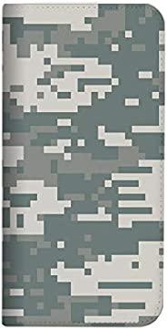 Mitas Xperia 10 II SOV43 手機殼 手賬型 無帶 迷彩 灰色 (485) NB-0077-GY/SOV43