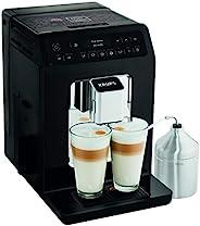 Krups 克魯伯 Evidenc 全自動咖啡機 EA8918e,OLED顯示屏,Barista Quattro Force 技術,12種咖啡制備,3種茶制備,一鍵式卡布奇諾制備,2杯功能,黑色