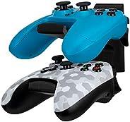 The Stack - 双通用游戏控制器壁挂式支架,适用于 Xbox ONEE、系列 X、PS5、PS4、PS3、Switch、STEELSERIES 游戏手柄等,体育场座位,美观有序,Brainwavz 无螺丝