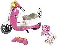 BABY born City RC 滑板车 43 厘米娃娃 - 适合小手抓握,创意游戏促进同情心和社交技能,适合 3 岁及以上儿童 - 包括遥控器和贴纸