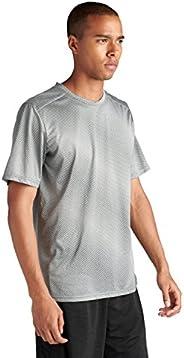 ASICS 时尚短袖上衣(男式),灰色,M 码