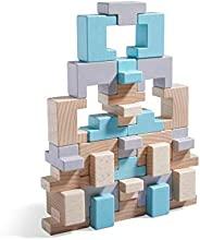 HABA 305462 混型积木玩具,32块装,含U型和T型,可拼装堆叠,带建筑模板卡,适用于3岁以上儿童