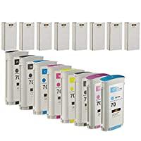 LKB 8PK 兼容 HP70 墨盒替换件 130ML 适用于 HP Designjet Z2100 Z5200 Z3200 Z3100 Z54(8 包 HP70) - 美国
