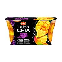 Del Monte Fruit & Chia Snack Cups, Mangos in Pineapple Flavored Chia, 2 Cups, 7-Ounce (Pack of 2)