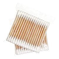 棉簽,木質手柄,400 支,雙頭,優質棉頭 - 多功能,*,吸水性強,衛生 3'' 600pcs