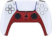 eXtremeRate Passion 红色装饰装饰外壳适用于 DualSense 控制器,软触摸 DIY 替换夹壳适用于 PS5 控制器,定制板盖适用于 Playstation 5 控制器,带音响环