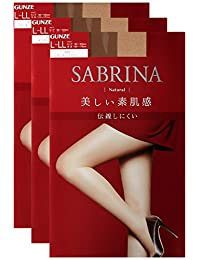 GUNZE 郡是 女士 Sabrina Natural 连裤袜 同色3双装 SB410