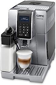 De'Longhi 德龙 Dinamica 全自动豆到杯咖啡机,卡布奇诺咖啡机,ECAM 350.75.S,银色