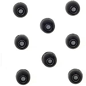 8 包 - 中号 SHURE EABKF1-10M (PA910M) 替换黑色泡沫耳塞套适合 SHURE SE110 SE112 SE115 SE210 SE215 SE310 SE315 SE420 SE425 SE535 SE846 E3c E3g E4g E5c 和 Westone 隔音入耳式耳机